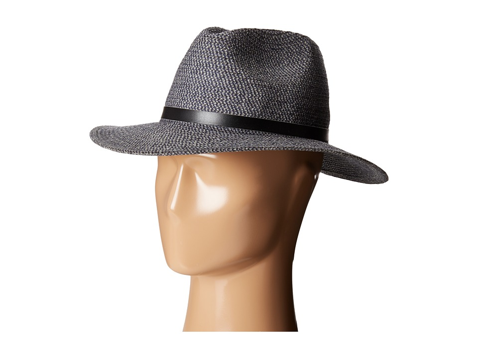 Karen Kane - Tweed Braid Fedora Hat (Dusty Blue/Navy) Fedora Hats