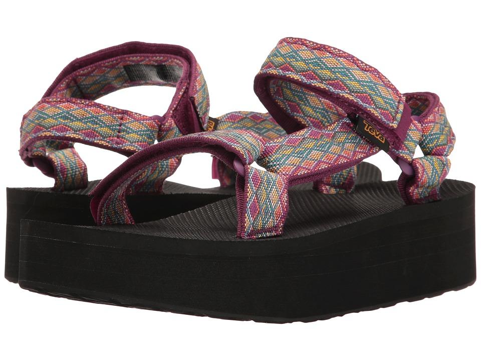 Teva - Flatform Universal (Miramar Fade Dark Purple Multi) Women's Sandals