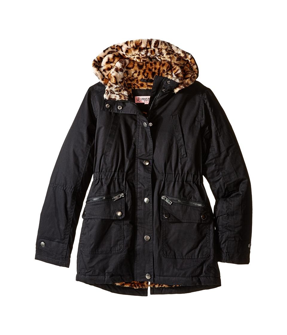 Urban Republic Kids - Cotton Twill Jacket (Little Kids/Big Kids) (Black) Girl's Coat