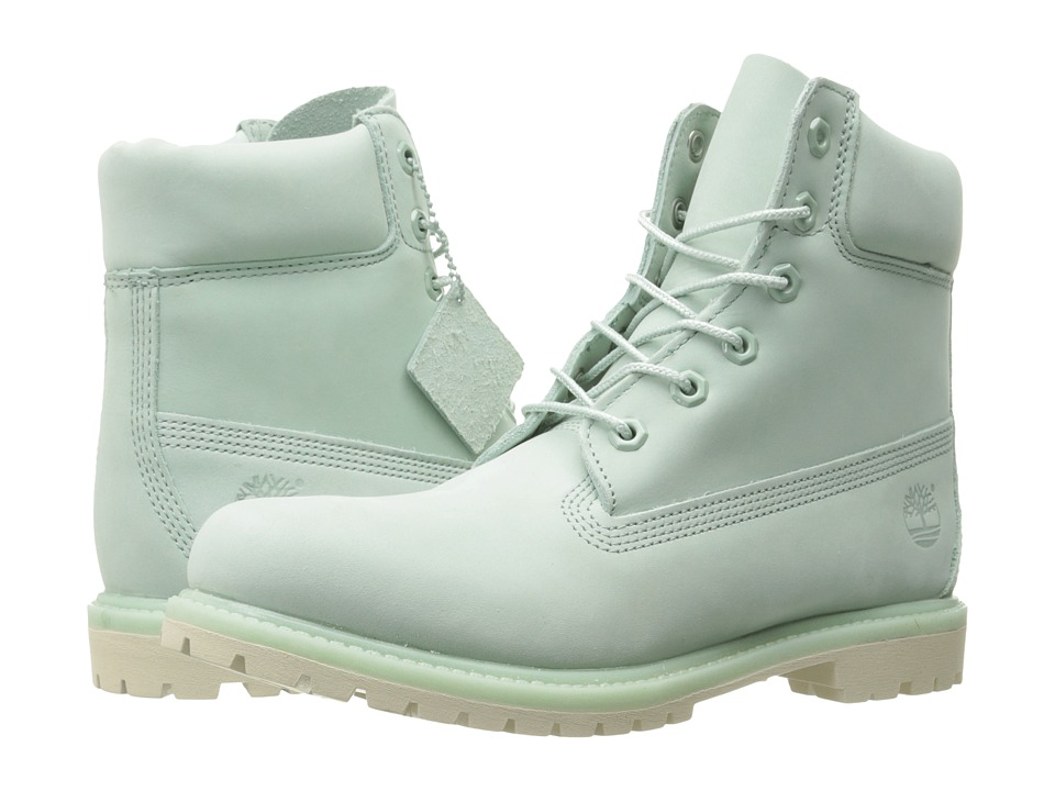 Timberland - 6 Premium Boot (Light Green Nubuck) Women's Lace-up Boots