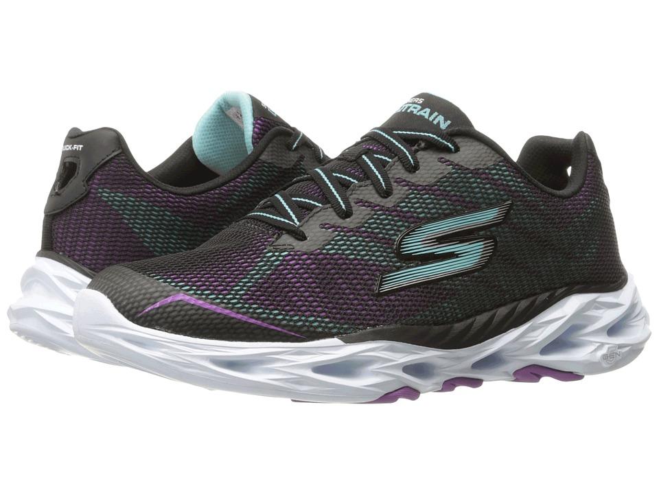 SKECHERS Performance - Go Train Vortex 2 (Black/Aqua) Women's Shoes