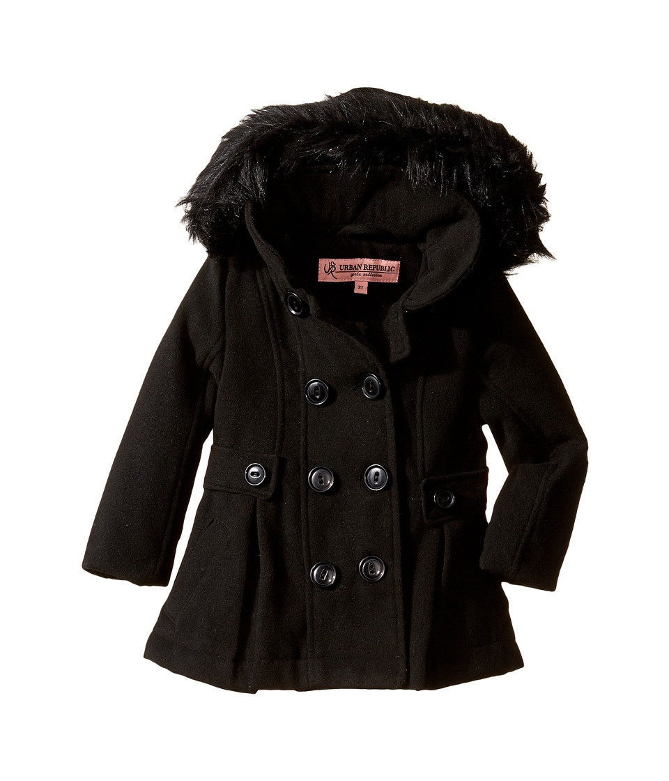 Urban Republic Kids - Wool Jacket (Infant/Toddler) (Black) Girl's Coat