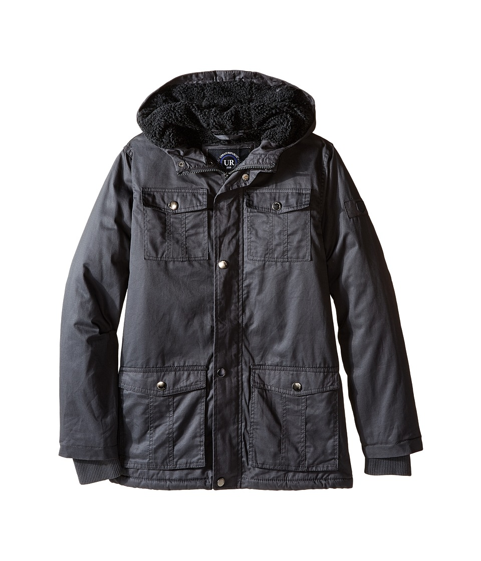 Urban Republic Kids - Cotton Twill Safari Jacket (Big Kids) (Black) Boy's Coat