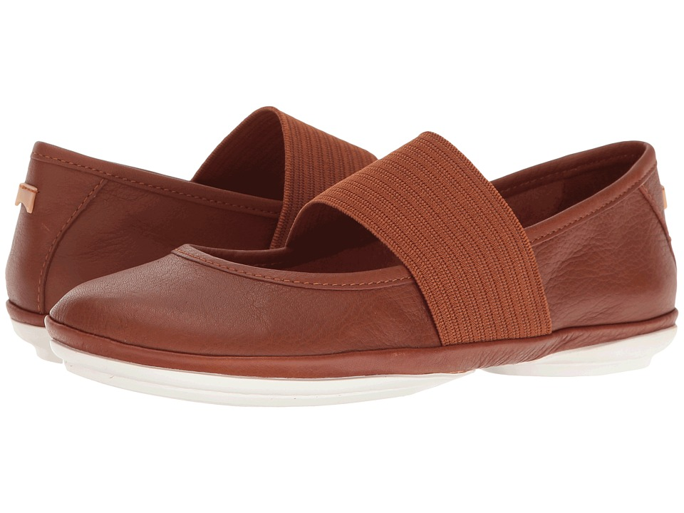 Camper - Right Nina - 21595 (Medium Brown 1) Women's Slip on Shoes