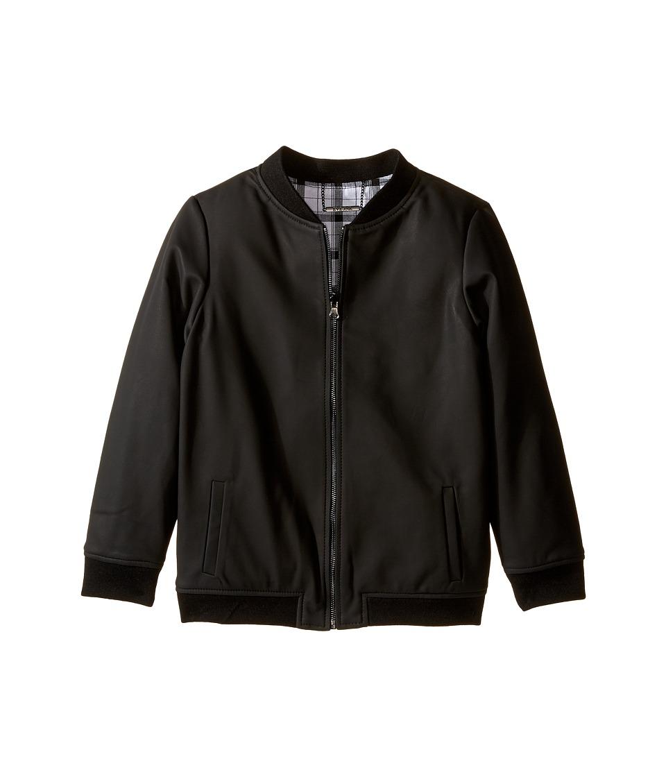 eve jnr - Reversible Baseball Jacket (Little Kids/Big Kids) (Black/White Flannel) Kid's Coat