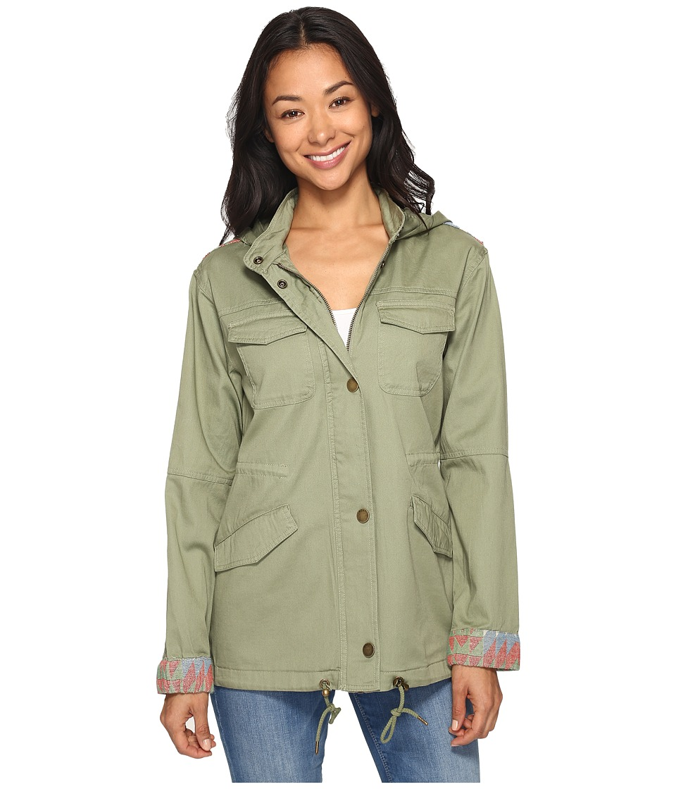 Roxy - Sultanis Military Jacket (Oil Green) Women's Coat