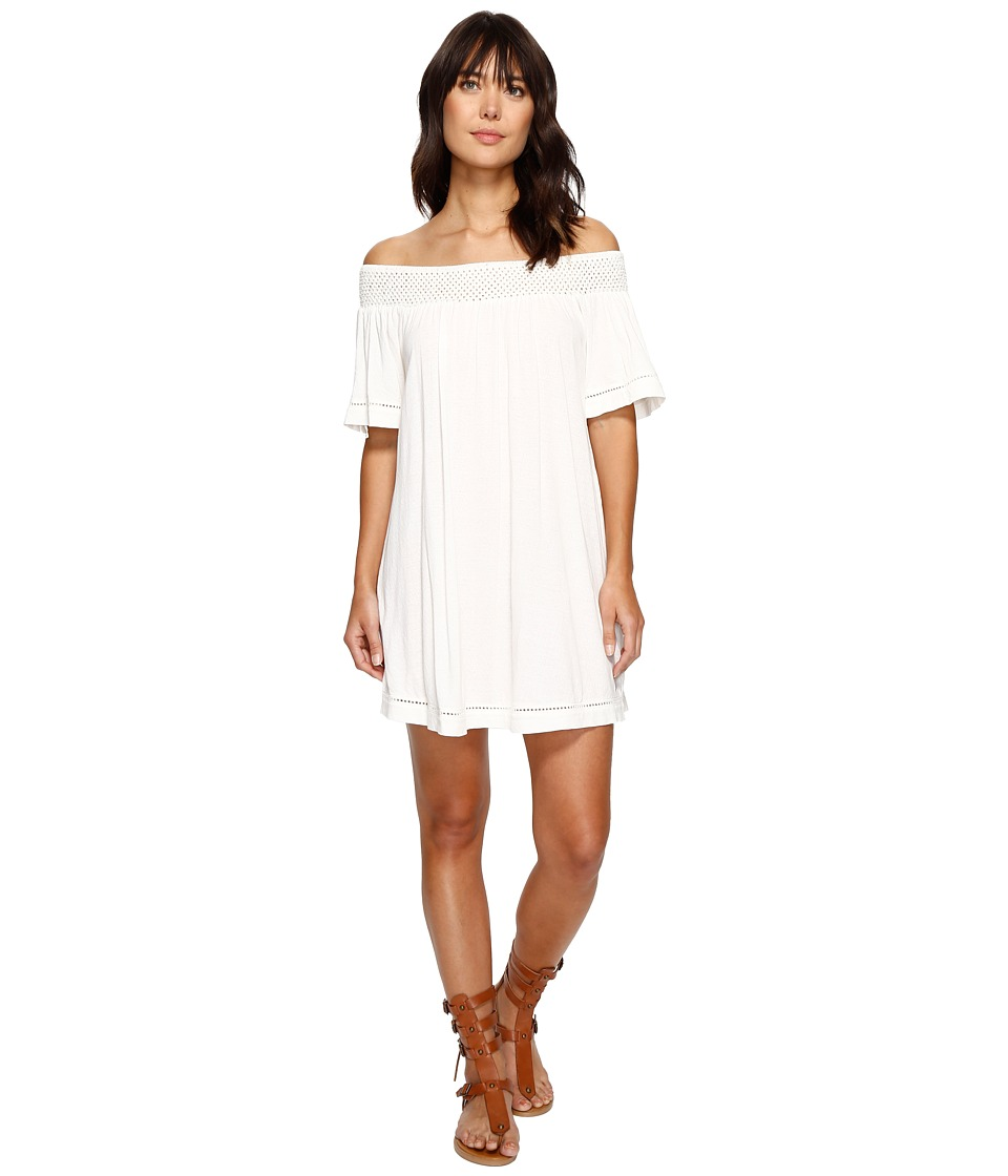 Roxy - Moonlight Shadows Cold Shoulder Dress (Marshmallow) Women's Dress