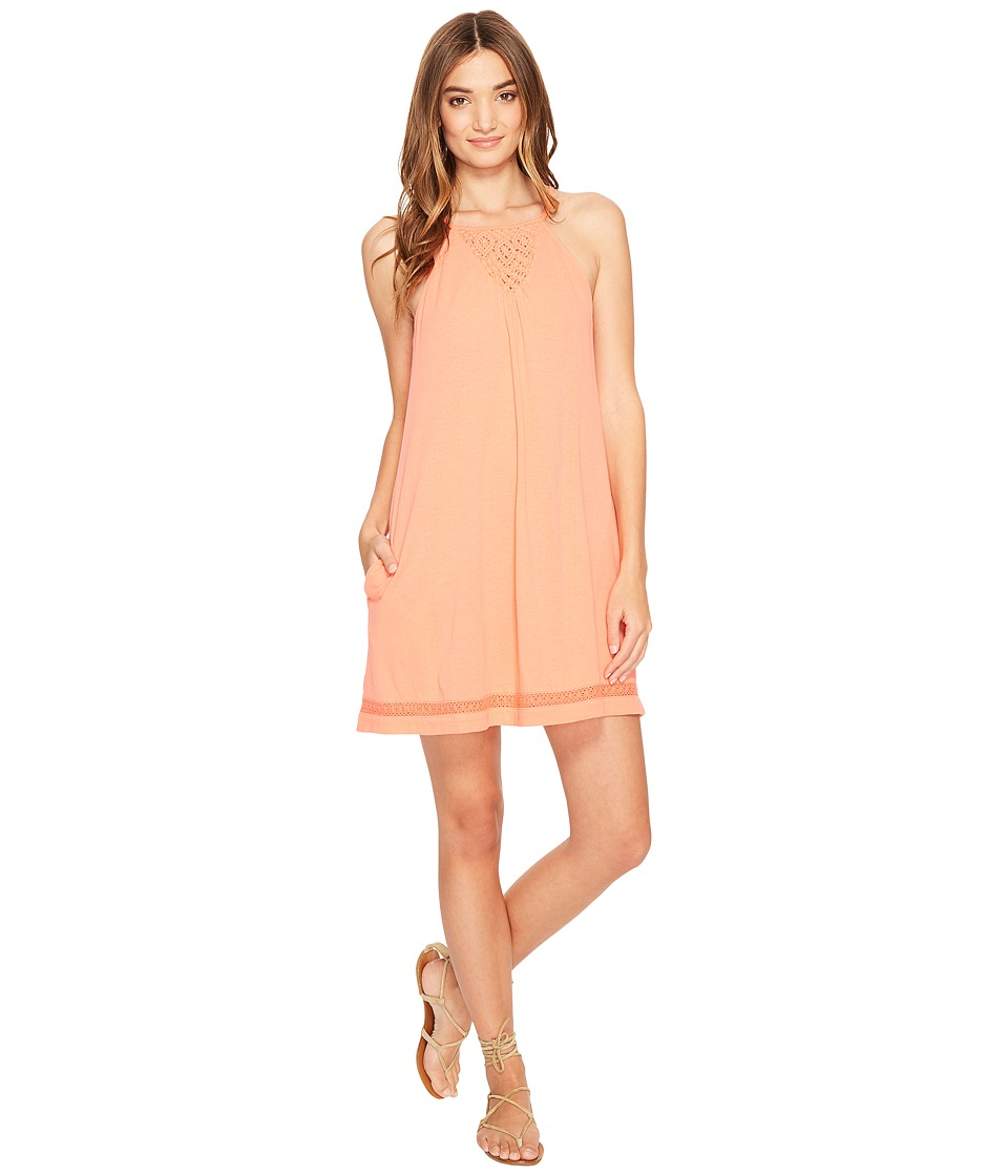 Roxy Wooden Ships Dress (Georgia Peach) Women