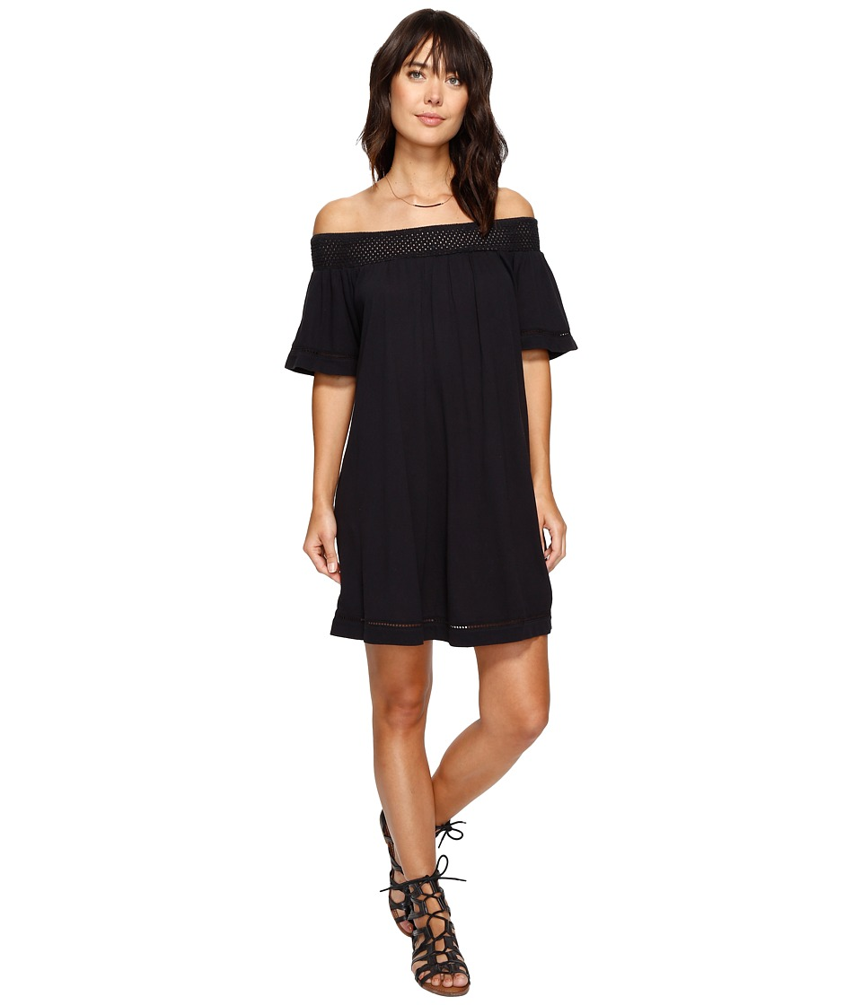 Roxy - Moonlight Shadows Cold Shoulder Dress (Anthracite) Women's Dress