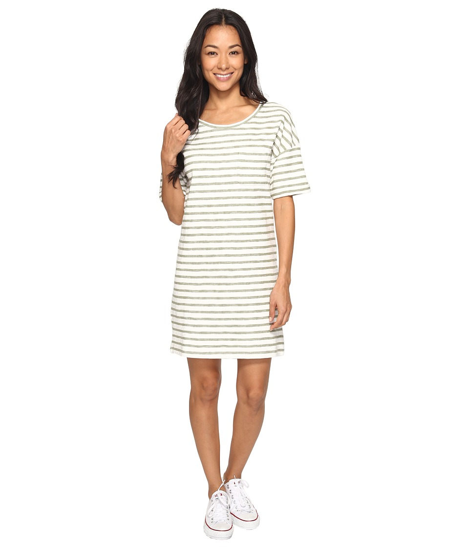 Roxy - Get Together T-Shirt Dress (Oil Green Friday Stripe) Women's Dress