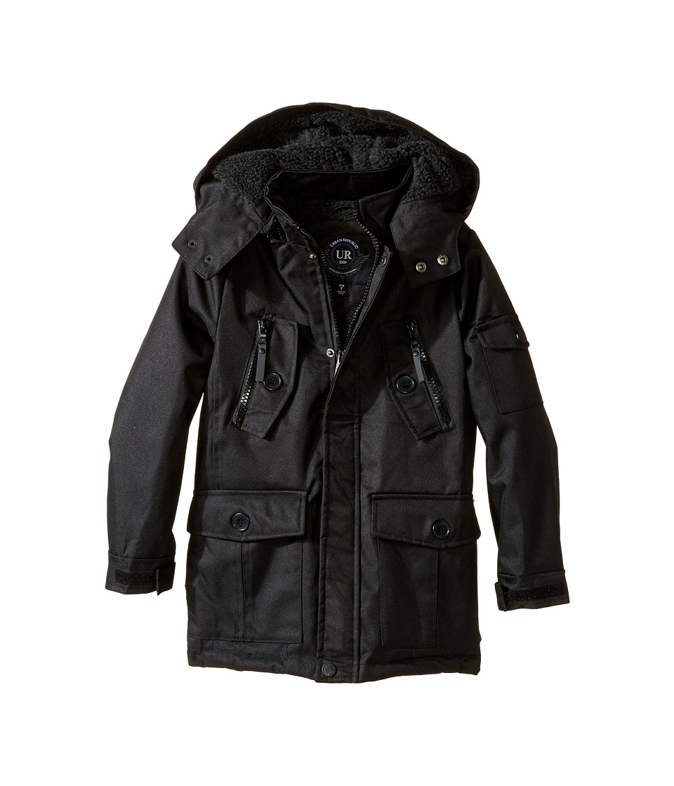Urban Republic Kids - Ballistic Jacket w/ Zip-off Hood (Little Kids) (Black) Boy's Coat