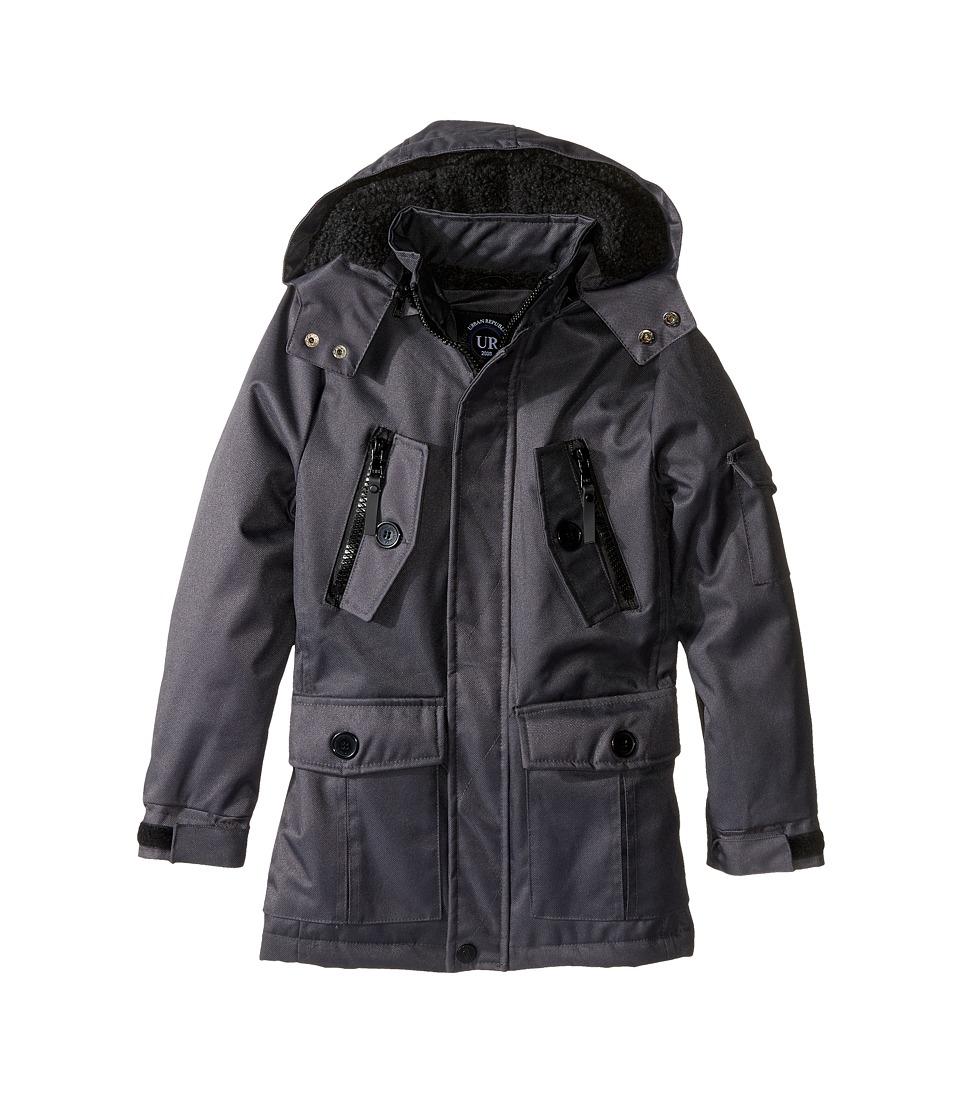 Urban Republic Kids - Ballistic Jacket w/ Zip-off Hood (Little Kids) (Charcoal) Boy's Coat