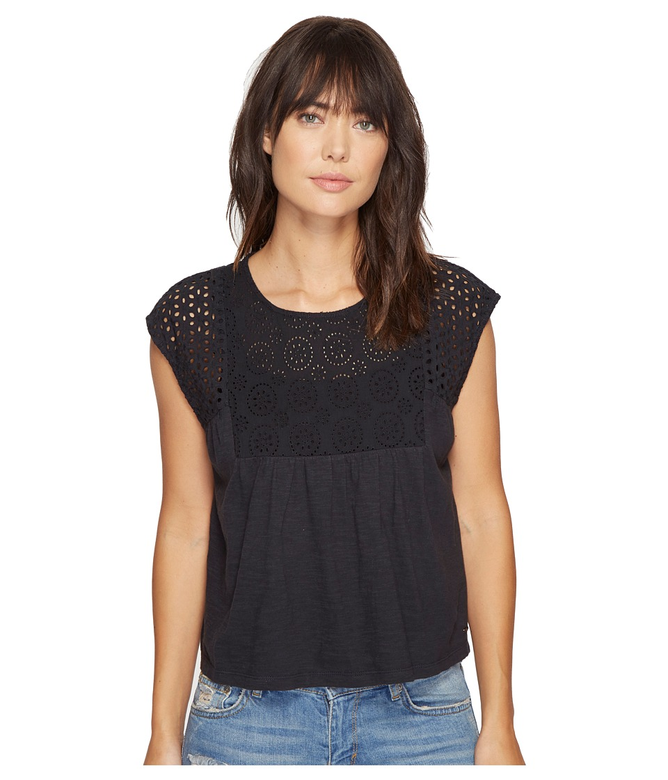 Roxy - Boho Dance Top (Anthracite) Women's Clothing