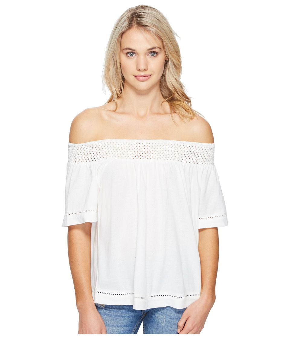 Roxy - Hey Tonight Cold Shoulder Top (Marshmallow) Women's Clothing