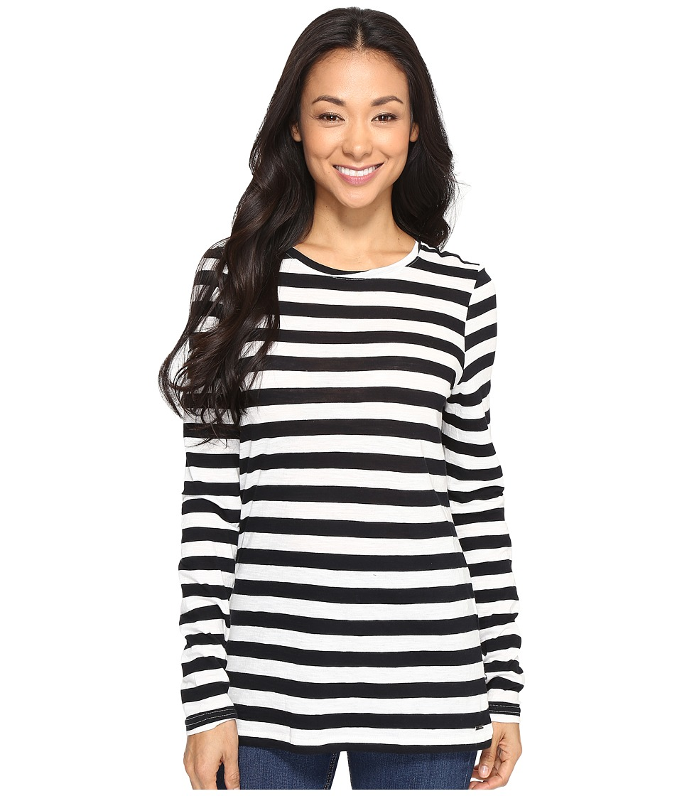 Roxy - Zarauz Beat Stripes Long Sleeve Top (Stephanies Stripe Combo Anthra) Women's Clothing