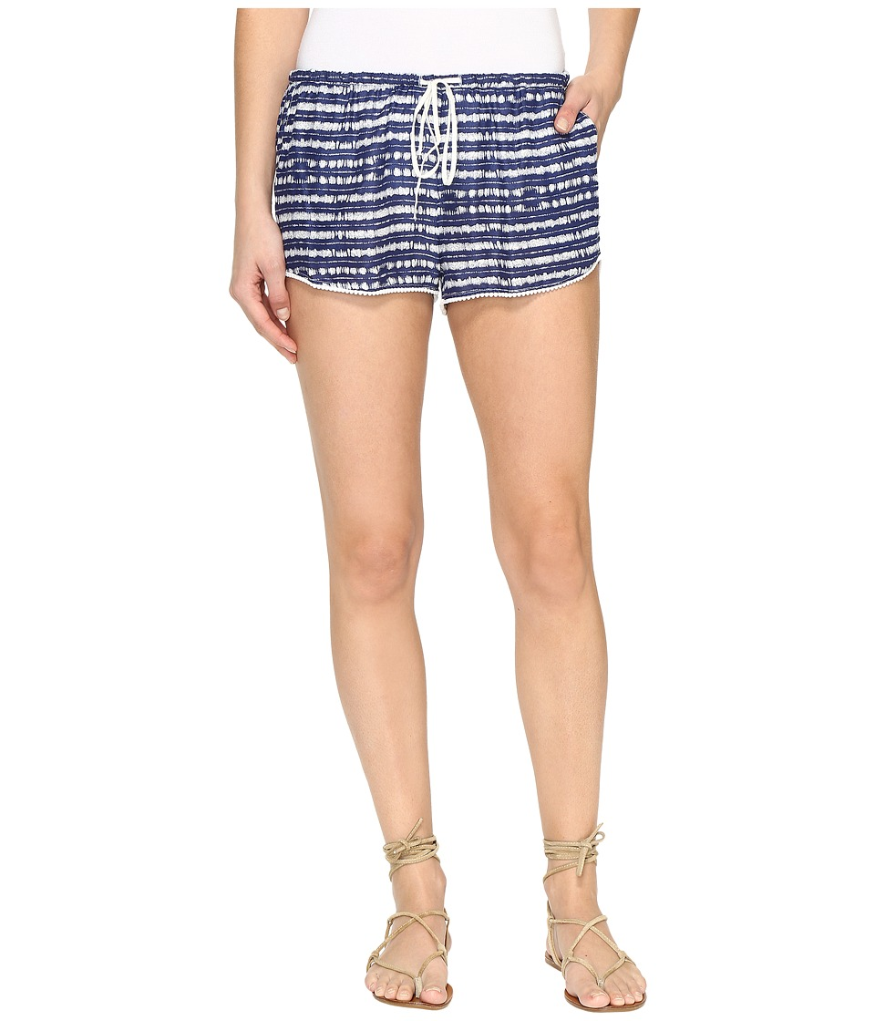 Roxy - Mystic Topaz Printed Short (Blue Depths Olmeque Stripe) Women's Shorts