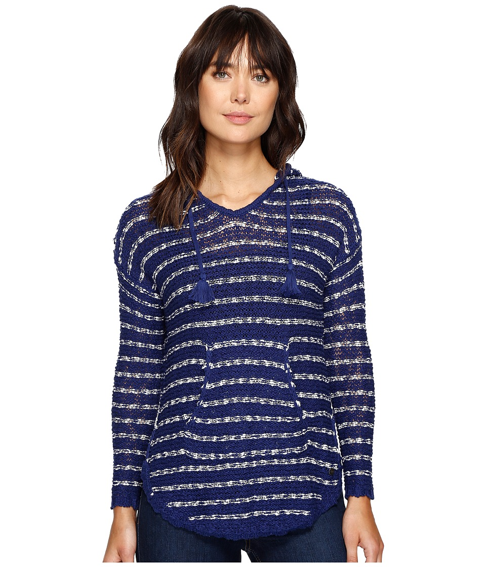 Roxy - Smoke Signal Stripe Sweater (Blue Depths) Women