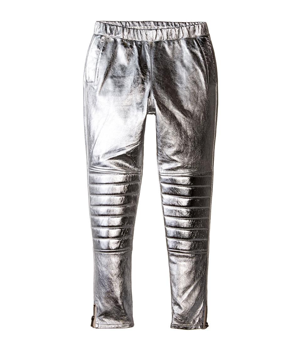 eve jnr - Leather Harem Pants (Little Kids/Big Kids) (Silver) Kid's Casual Pants