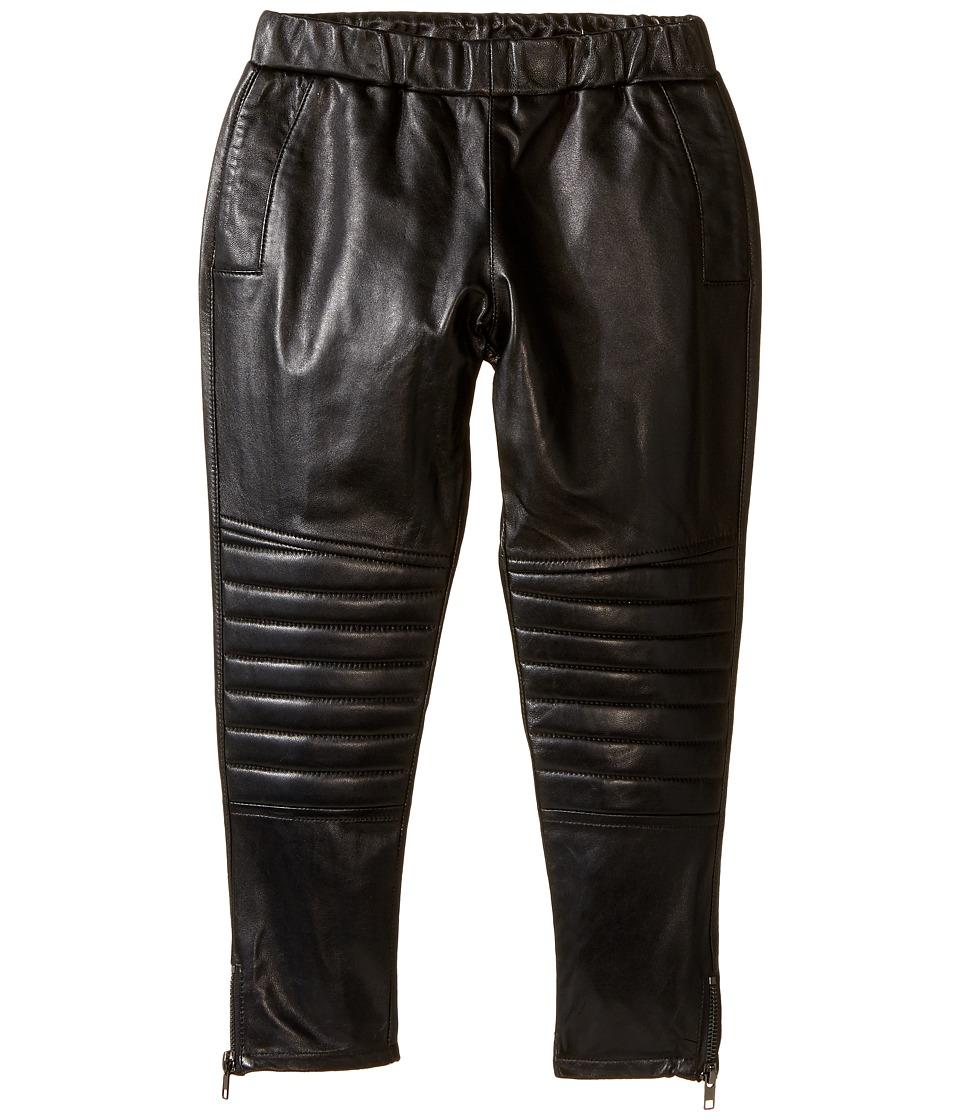 eve jnr - Leather Harem Pants (Infant/Toddler/Little Kids) (Black) Kid's Casual Pants
