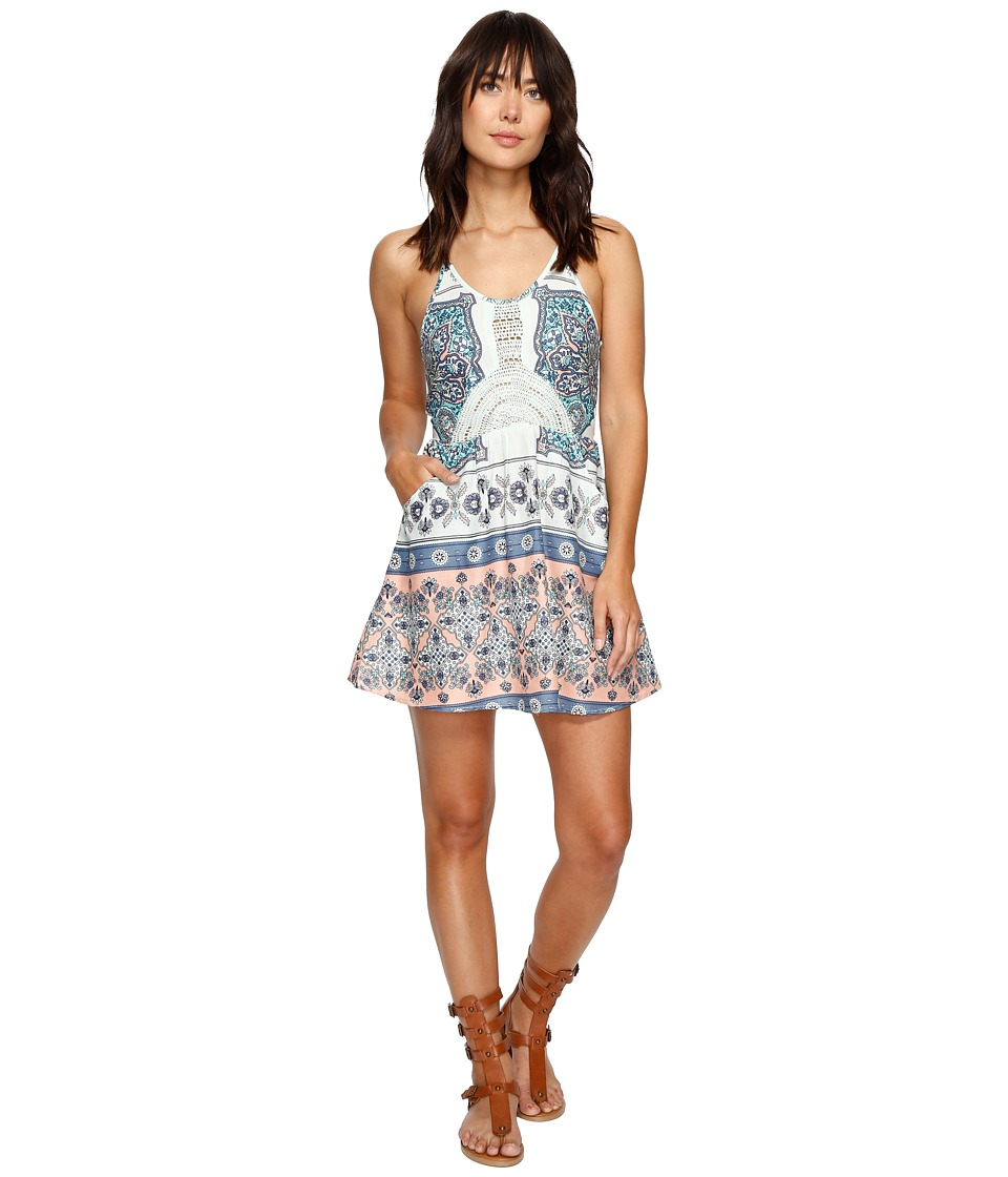 Roxy - Dance to the Beat Dress (Bleached Aqua Agadir Border) Women's Dress