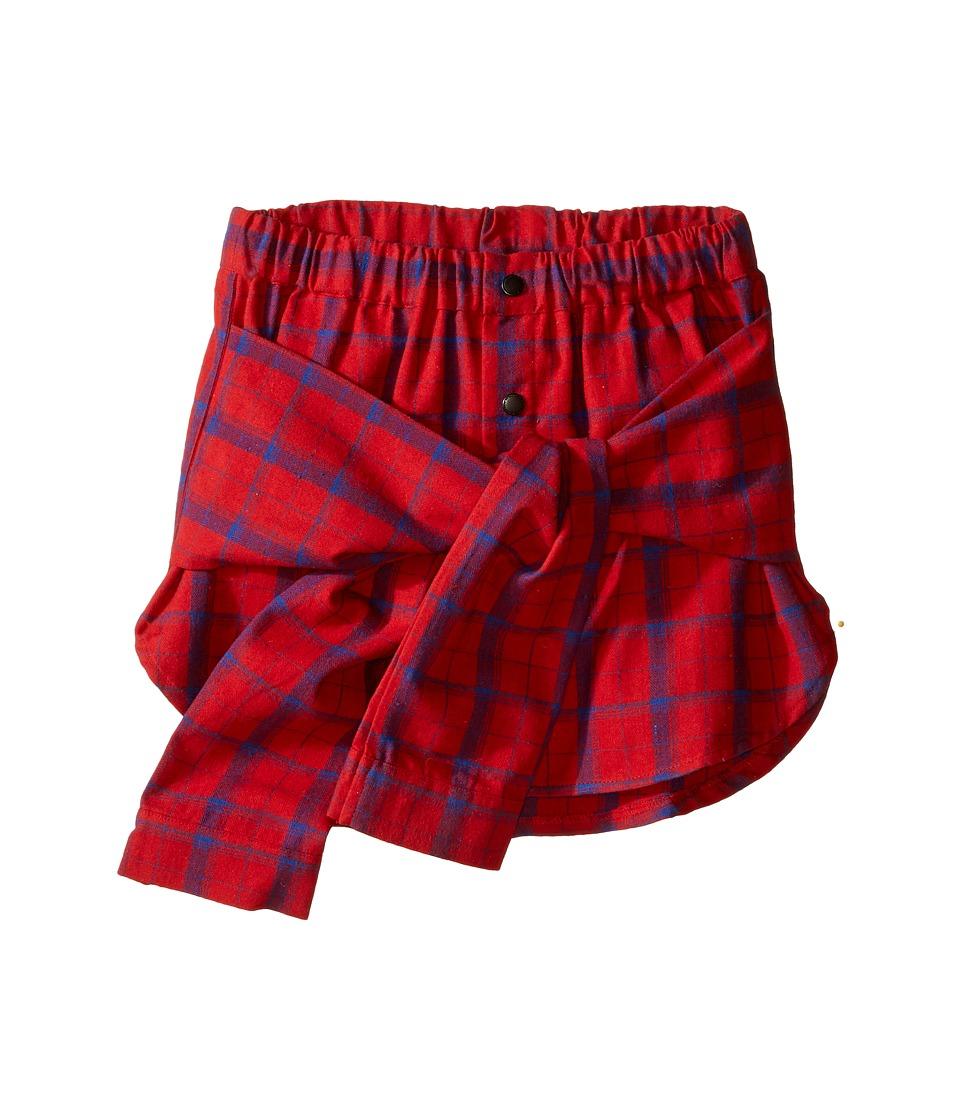 eve jnr - Wrap Shirt Skirt (Little Kids/Big Kids) (Red) Girl's Skirt