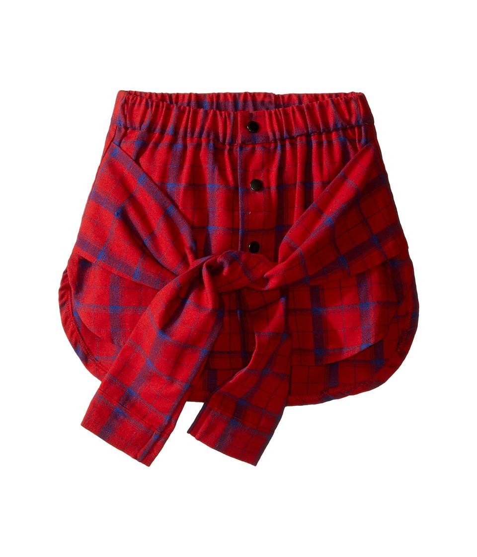 eve jnr - Wrap Shirt Skirt (Infant/Toddler/Little Kids) (Red) Girl's Skirt