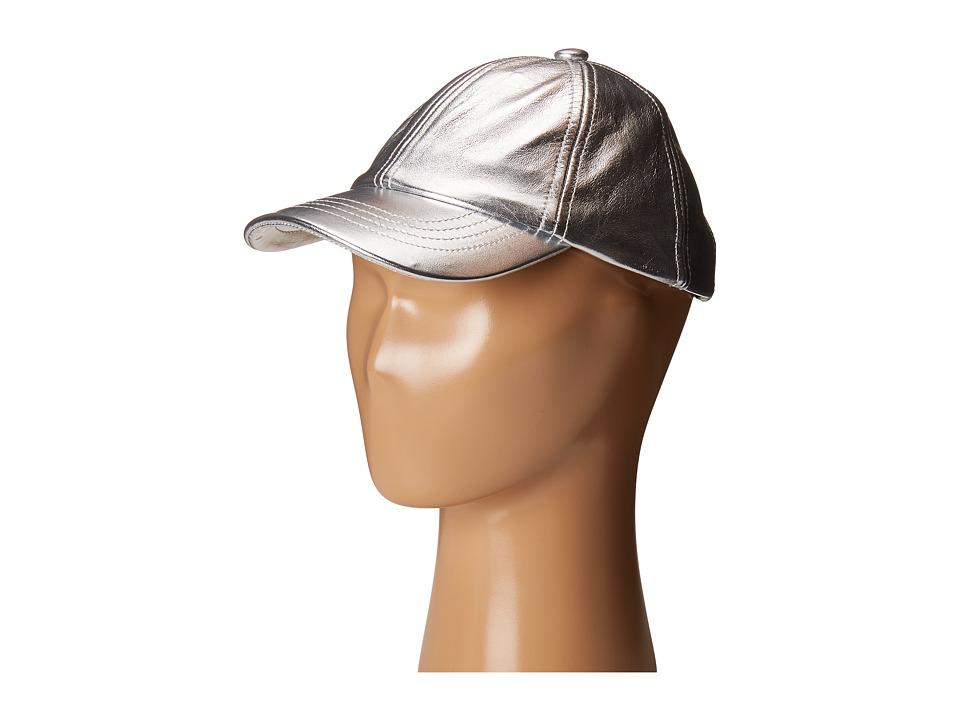 eve jnr - Leather Cap (Toddler/Little Kids) (Silver) Caps