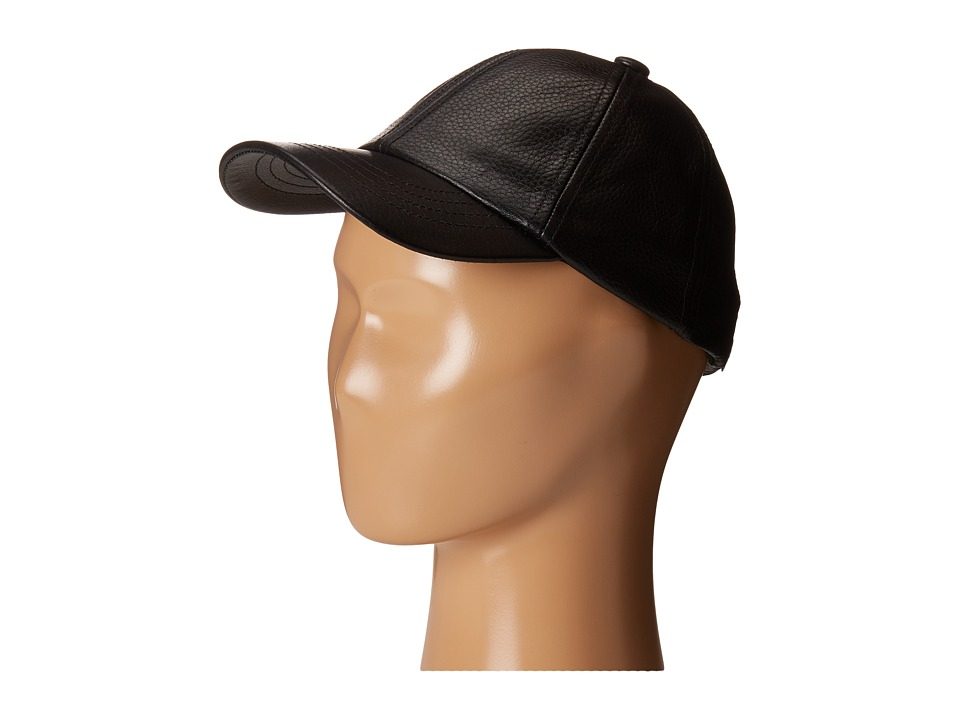 eve jnr - Leather Cap (Toddler/Little Kids) (Black) Caps