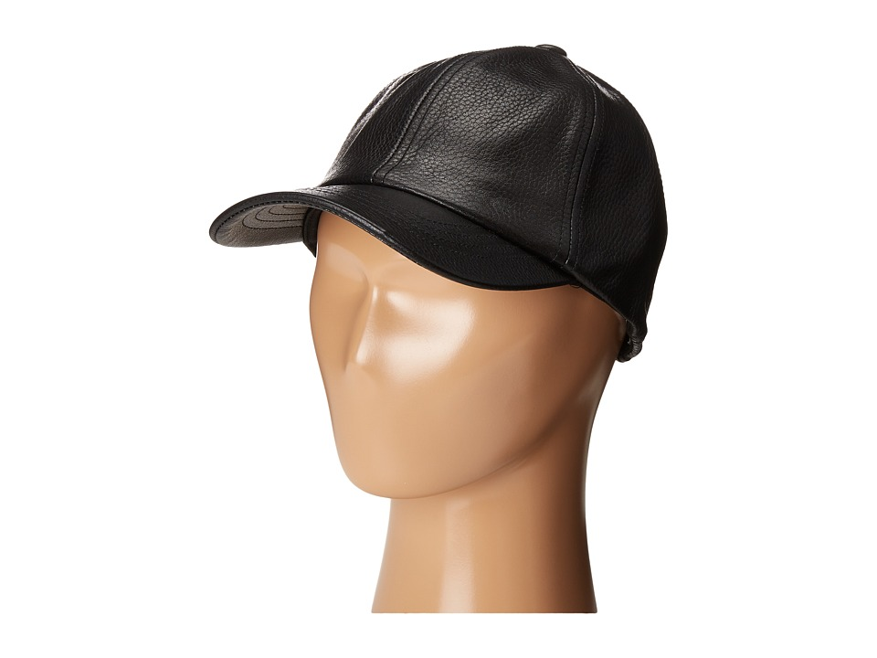 eve jnr - Leather Cap (Little Kids/Big Kids) (Black) Caps