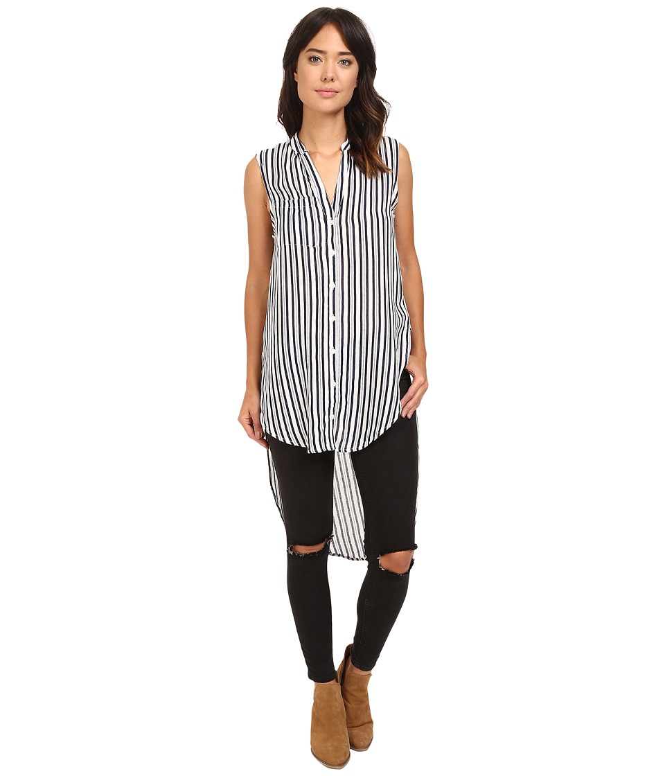 Brigitte Bailey - Angee Sleeveless Striped Tunic (Navy/Off-White) Women's Blouse