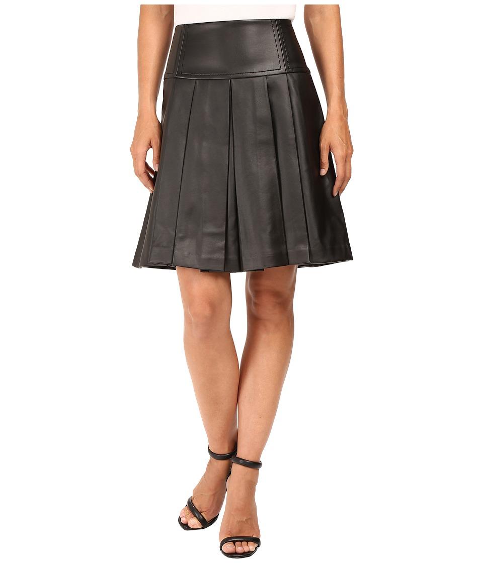 MICHAEL Michael Kors - Fit and Flare Pleated Skirt (Black) Women's Skirt