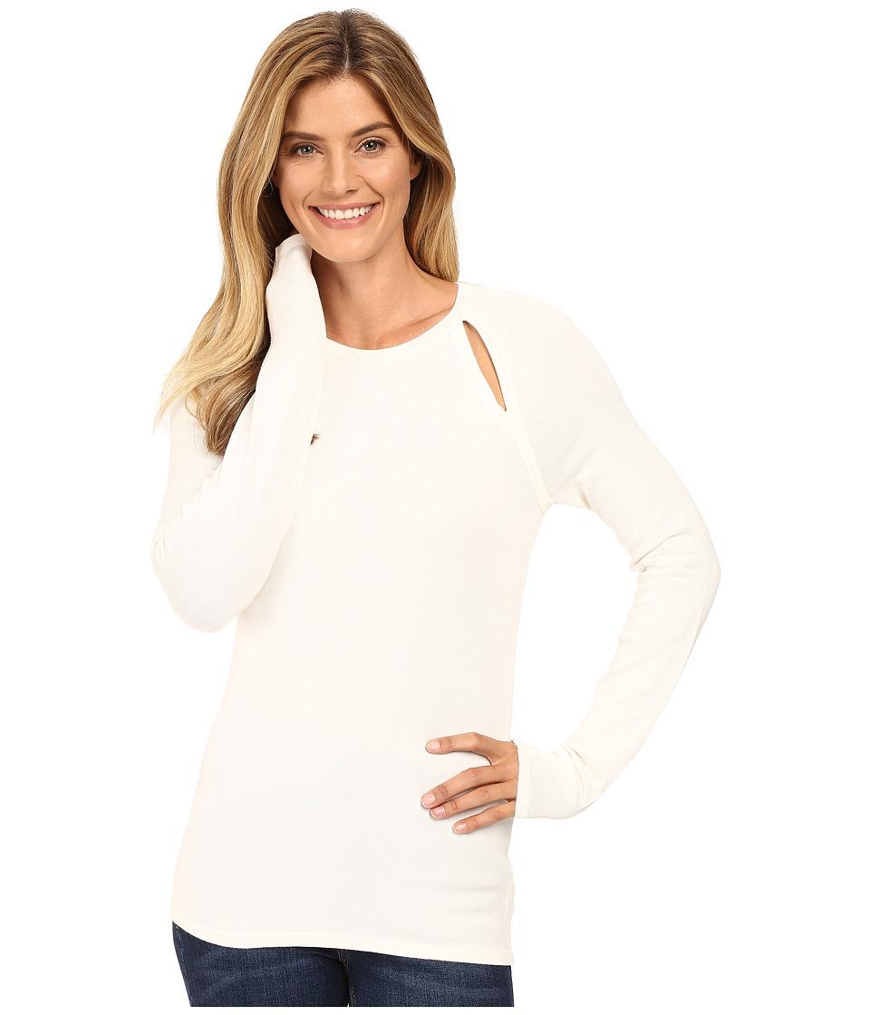 MICHAEL Michael Kors - Long Sleeve Slit Raglan Sweater (Cream) Women's Sweater