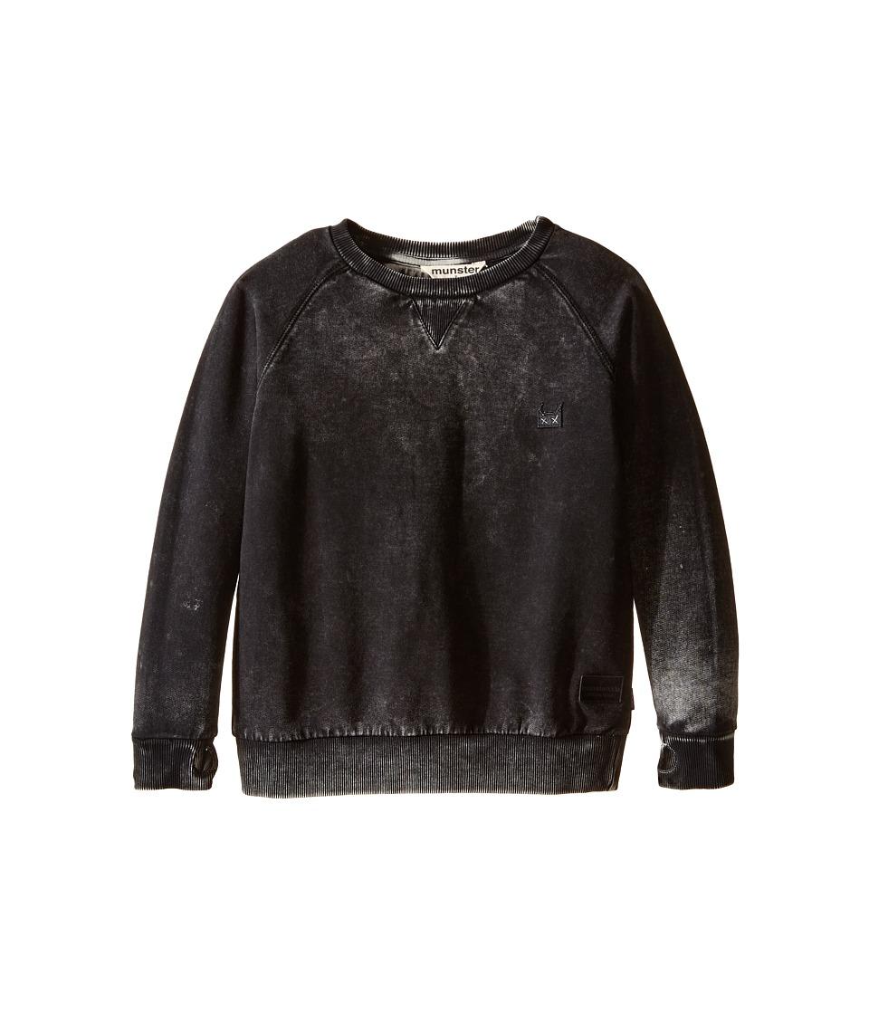 Munster Kids - Huf and Puff Sweatshirt (Toddler/Little Kids/Big Kids) (Black) Boy's Sweatshirt