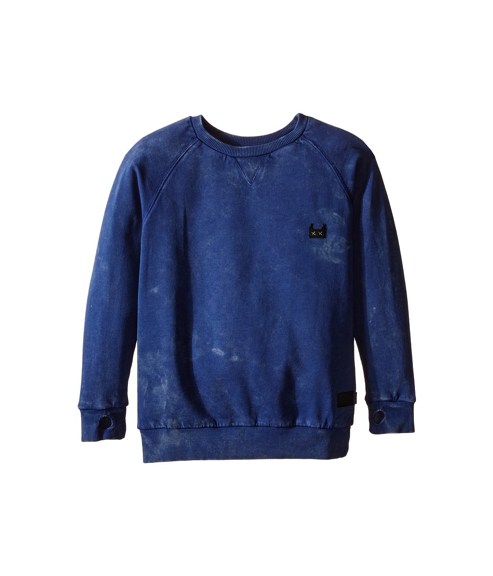 Munster Kids - Huf and Puff Sweatshirt (Toddler/Little Kids/Big Kids) (Navy) Boy's Sweatshirt