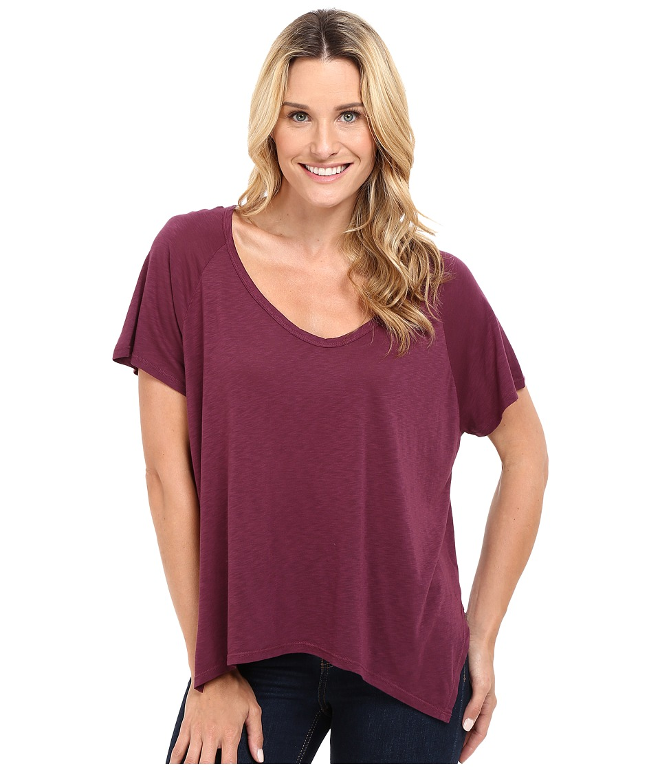The Beginning Of - Rhon Handkerchief Tee (Plum) Women's T Shirt