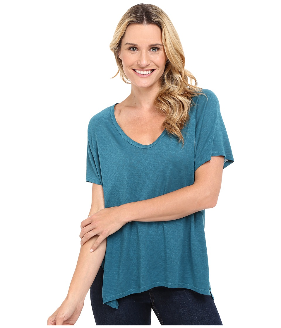 The Beginning Of - Rhon Handkerchief Tee (Teal) Women's T Shirt