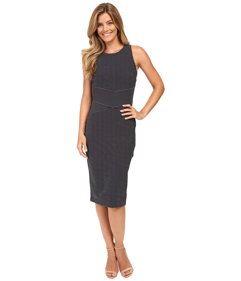 MICHAEL Michael Kors - Pinstripe Bodycon Dress (New Navy) Women's Dress
