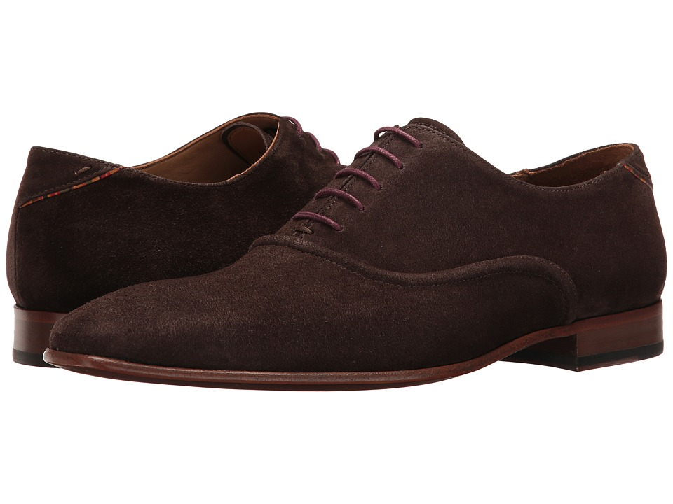 Paul Smith - PS Starling Plain Toe Oxford (Ebano) Men's Plain Toe Shoes