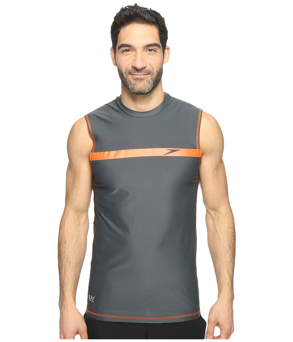 Speedo - Startline Sleeveless Rashguard (Granite) Men's Swimwear