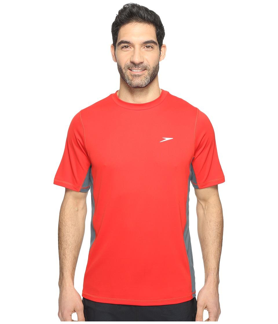 Speedo - Longview Swim Tee (Atomic Red) Men's Swimwear
