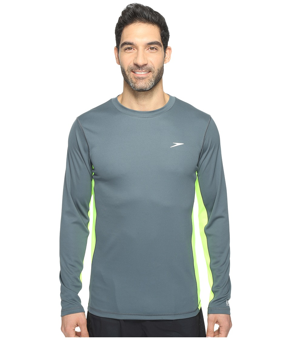 Speedo - Longview Long Sleeve Swim Tee (Sport Neon) Men's Swimwear