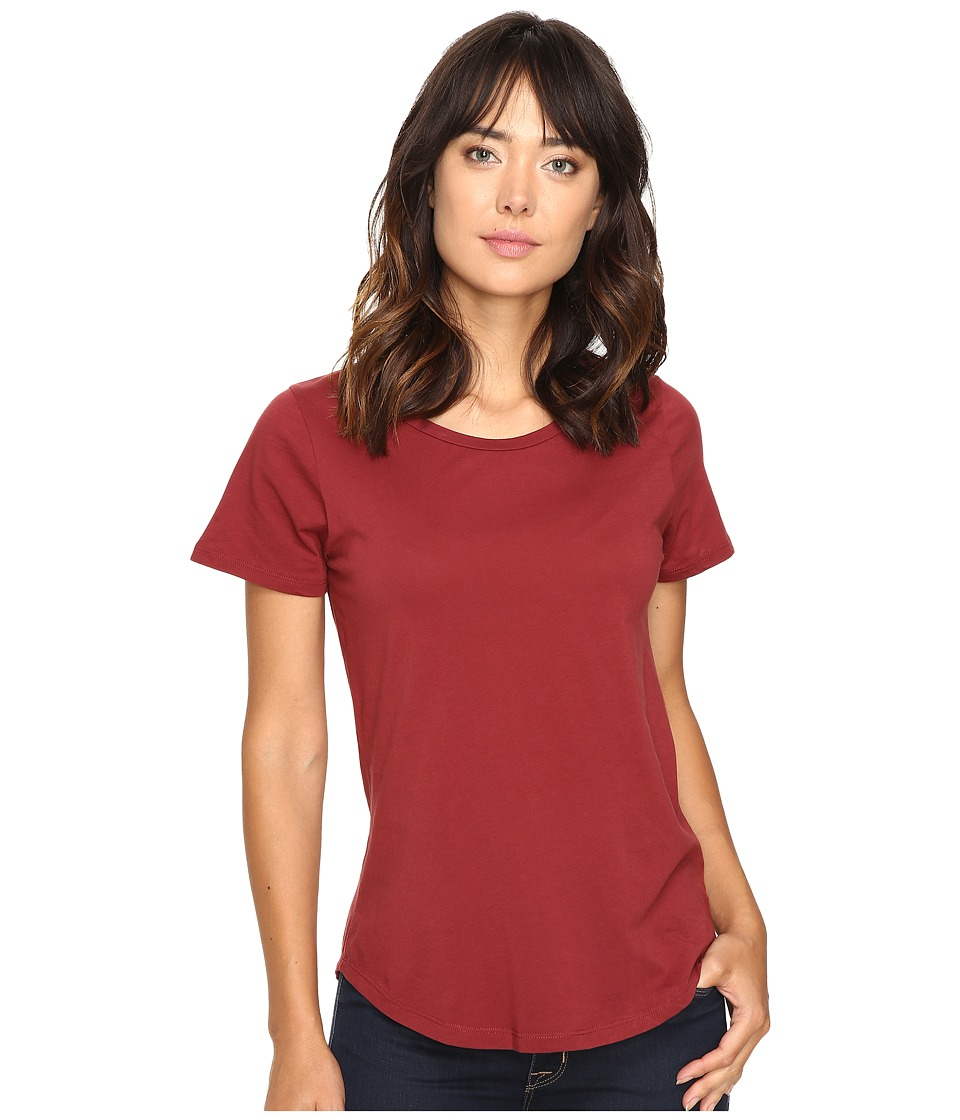 The Beginning Of - Effie Perfect Fit Tee (Bordeaux) Women's T Shirt