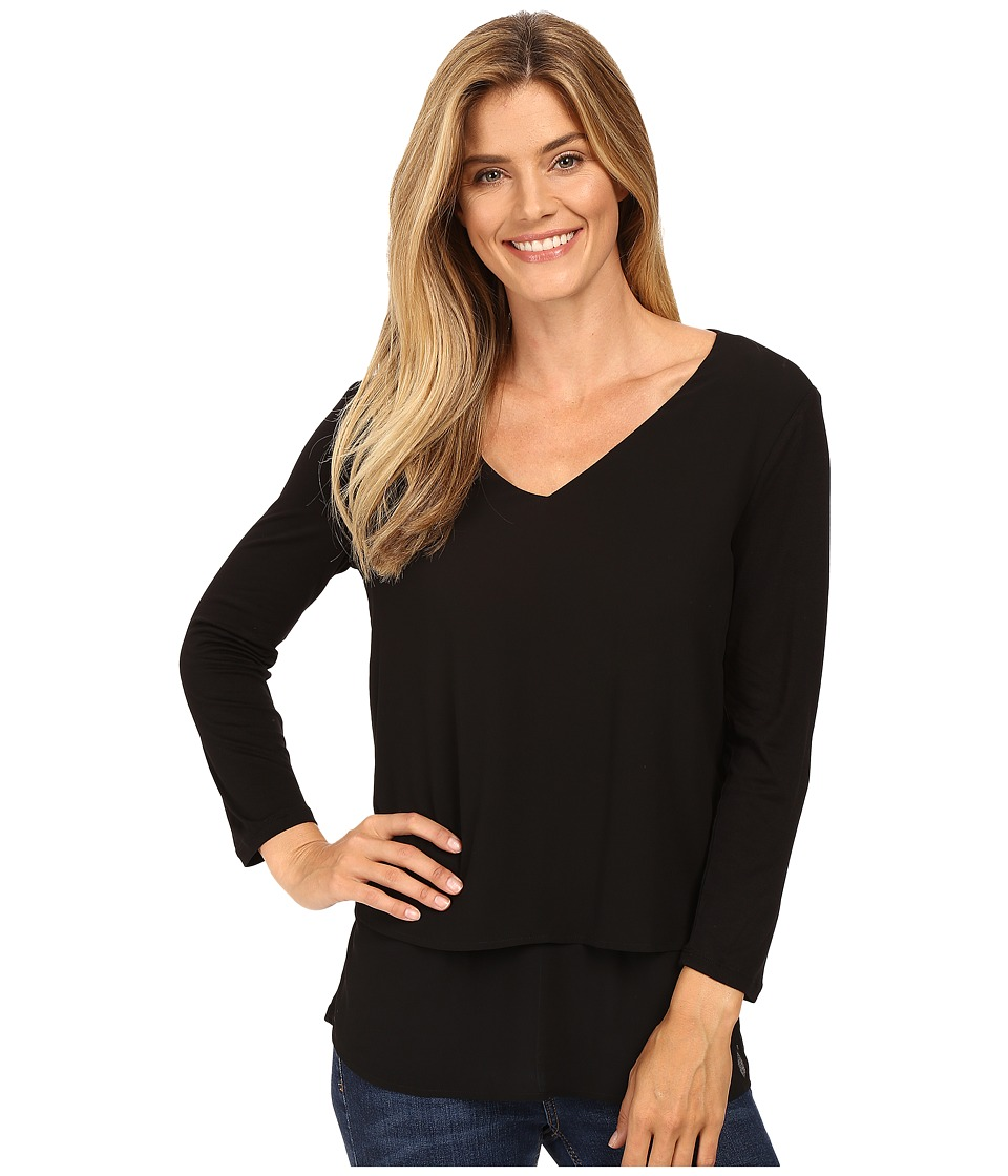 MICHAEL Michael Kors - Multi Woven Layer Top (Black) Women's Clothing