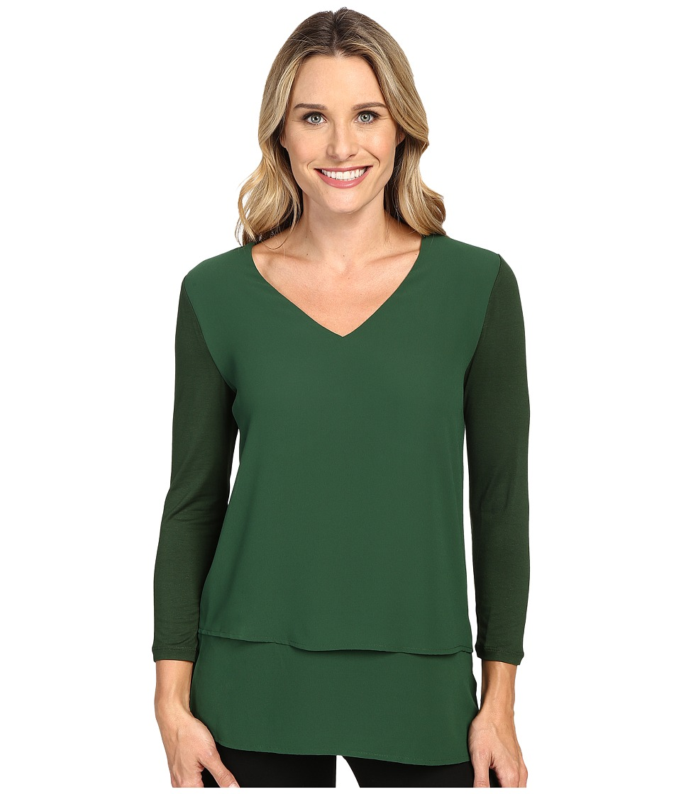 MICHAEL Michael Kors - Multi Woven Layer Top (Moss) Women's Clothing