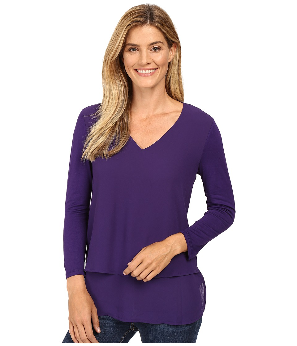 MICHAEL Michael Kors - Multi Woven Layer Top (Iris) Women's Clothing
