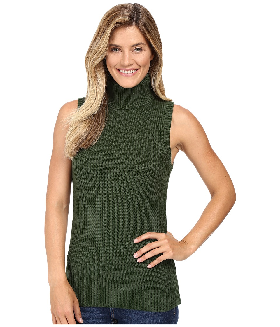 MICHAEL Michael Kors - Shaker Sleeveless Turtleneck (Moss) Women's Sleeveless