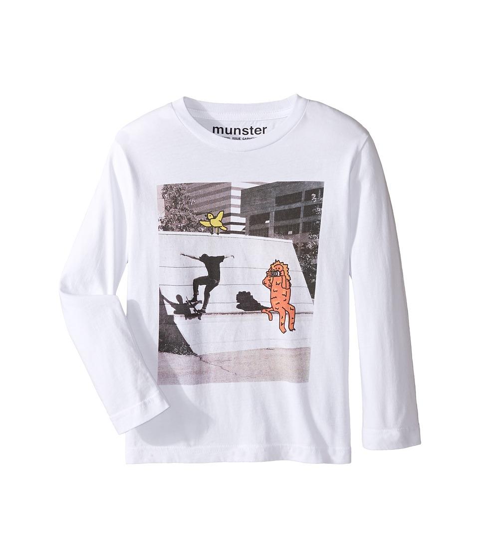 Munster Kids - Chase Sweatshirt (Toddler/Little Kids/Big Kids) (White) Boy's Sweatshirt