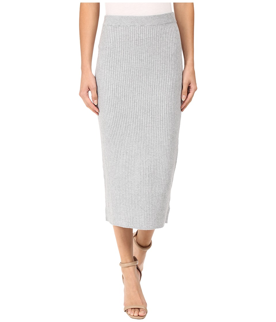 MICHAEL Michael Kors - Rib Skirt w/ Transfers (Pearl Heather) Women's Skirt