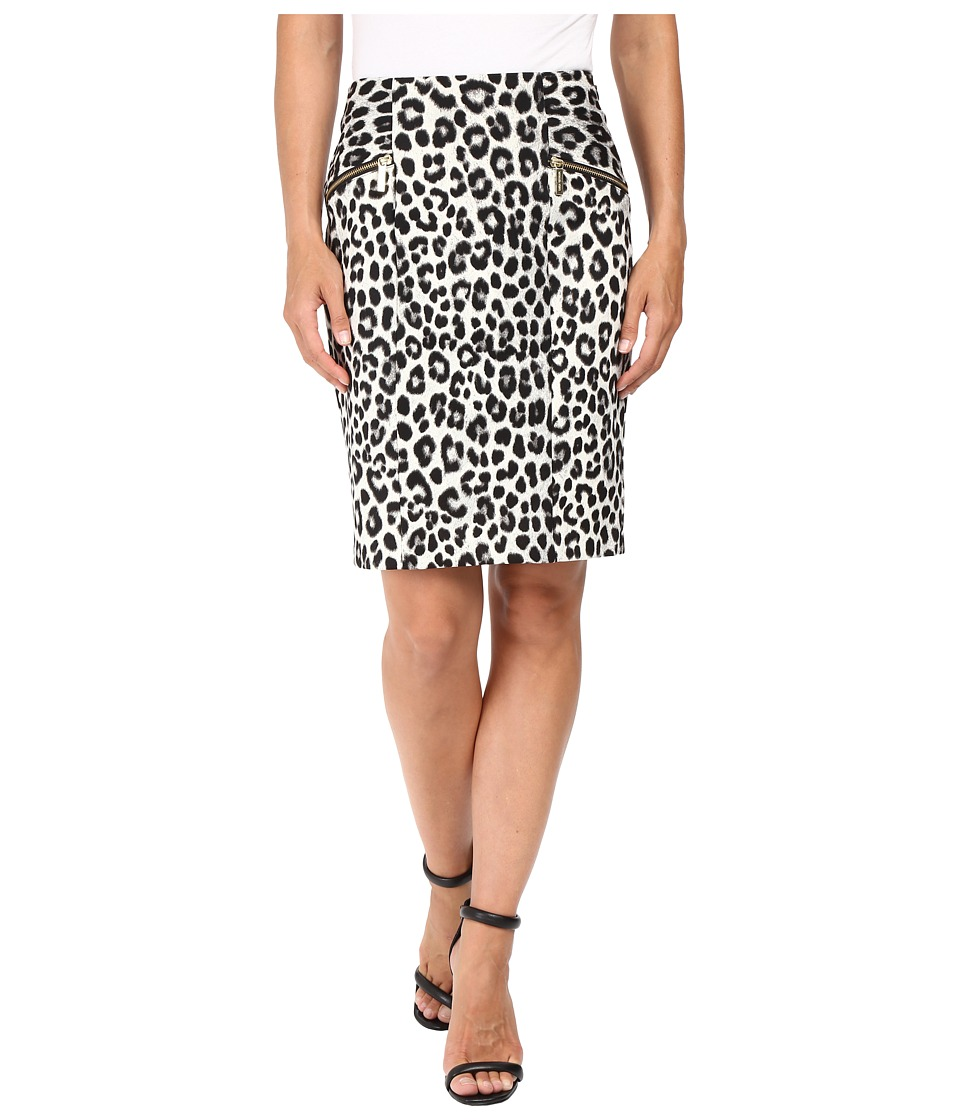 MICHAEL Michael Kors - Spotted Cheetah Skirt (Black) Women's Skirt