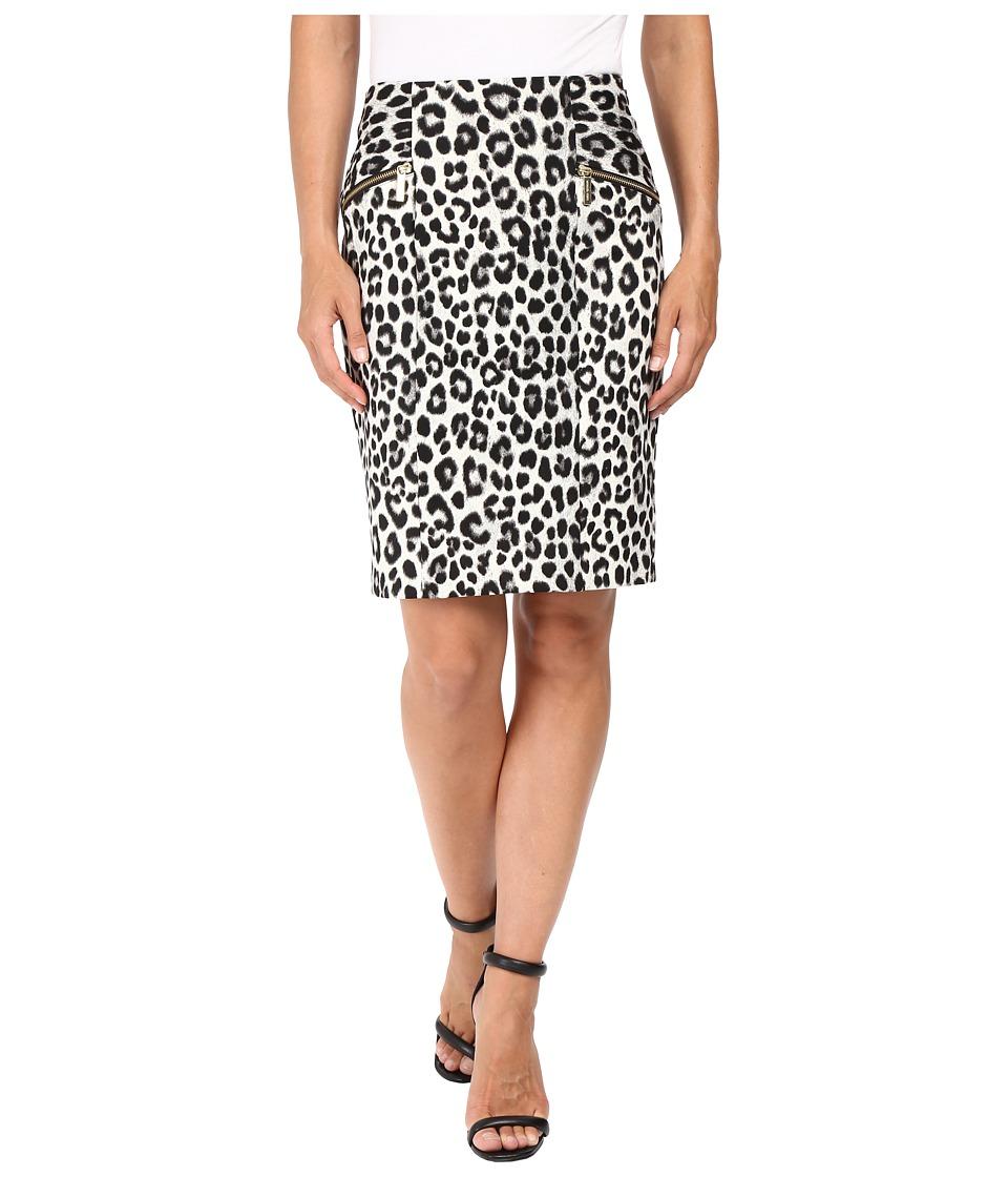 MICHAEL Michael Kors - Spotted Cheetah Skirt (Black) Women's Skirt